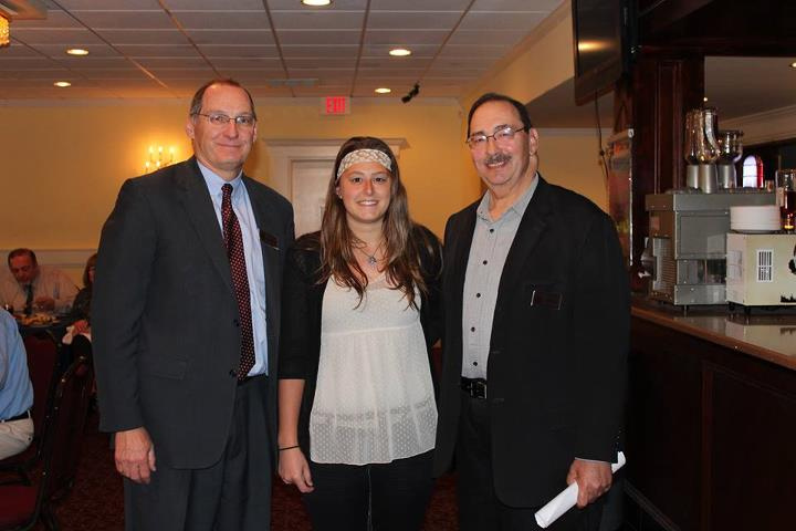 2013 Scholarship Recipient Jessica Gerlach (center) with members of the Chamber's Scholarship Committee.